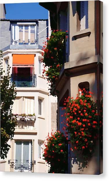 Montmartre Apartment Canvas Print by Jacqueline M Lewis