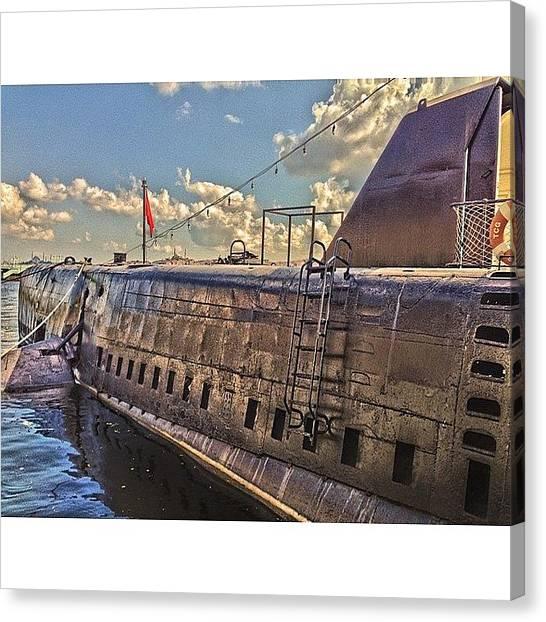 Submarine Canvas Print - Подводная лодка В by Marianna Garmash