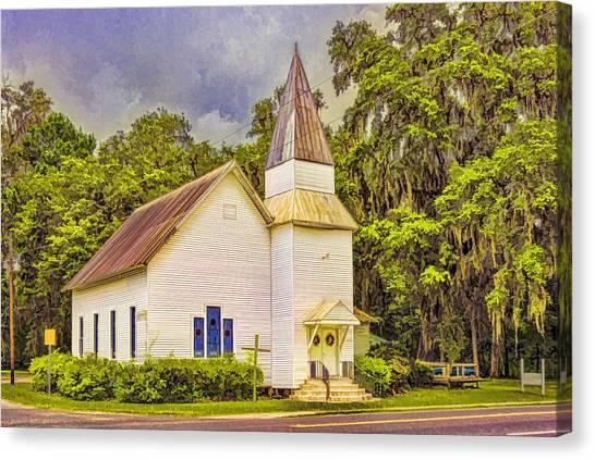 Old Rural Church Canvas Print