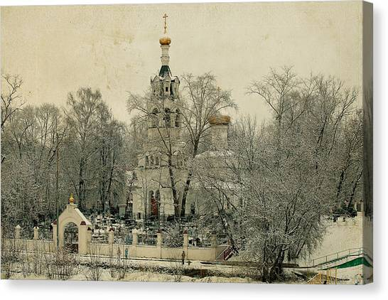 Old Russian Church Canvas Print by Mikhail Pankov