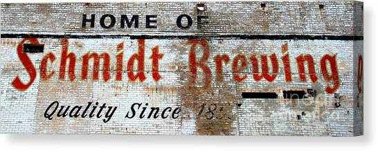Old Schmidt Brewery  Canvas Print
