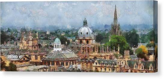 Oxford Panorama Canvas Print