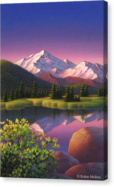 Mountain Scene Canvas Print -  Pastel Mountain by Robin Moline