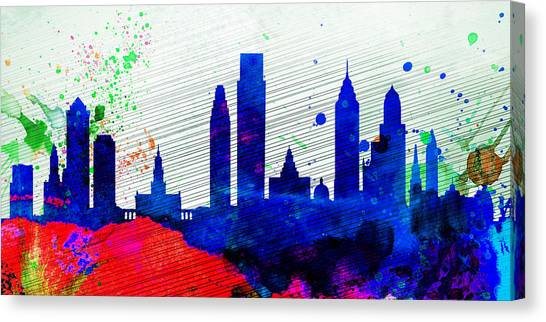 Philadelphia Canvas Print -  Philadelphia City Skyline by Naxart Studio
