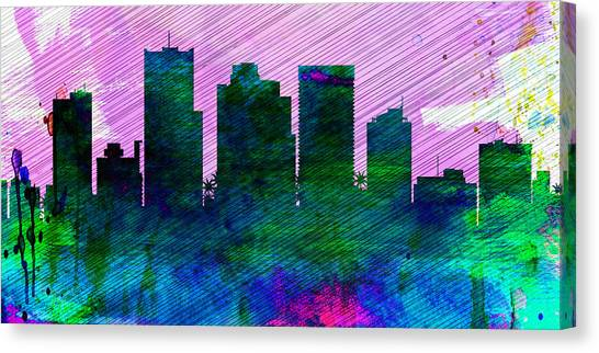 Phoenix Canvas Print -  Phoenix City Skyline by Naxart Studio