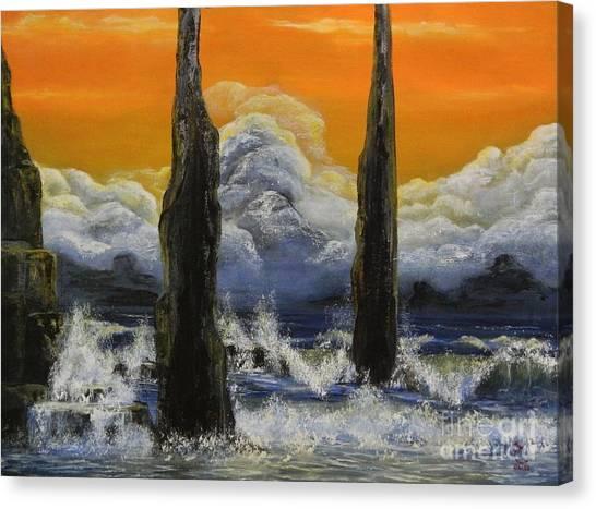 Pilares. Canvas Print by Daniel Sanchez