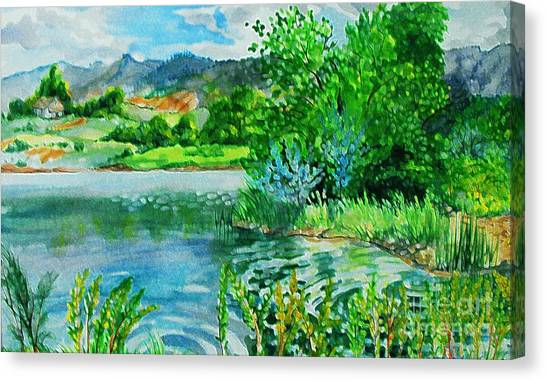 Plin Air Water Color Canvas Print by Annie Gibbons