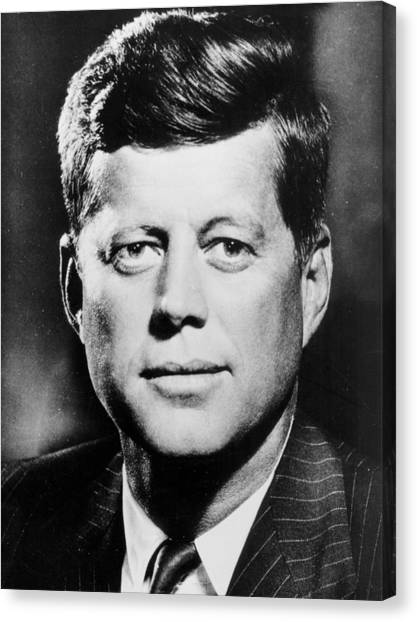 John F. Kennedy Canvas Print -  Portrait Of John F. Kennedy  by American Photographer
