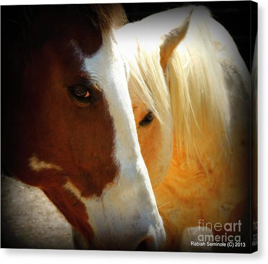 Portrait Of Tai And Woody Canvas Print