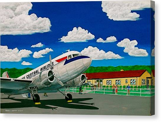 Portsmouth Ohio Airport And Lake Central Airlines Canvas Print