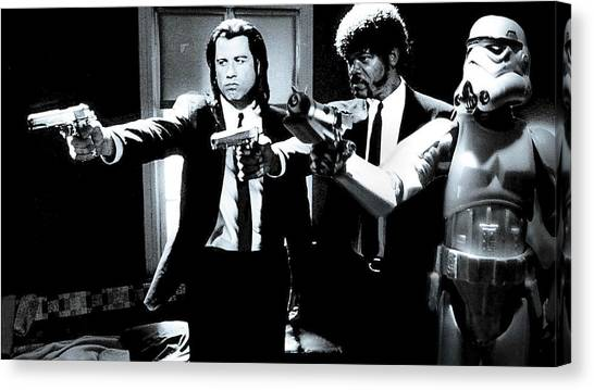Pulp Fiction Canvas Print -  Pulp by Tony Leone