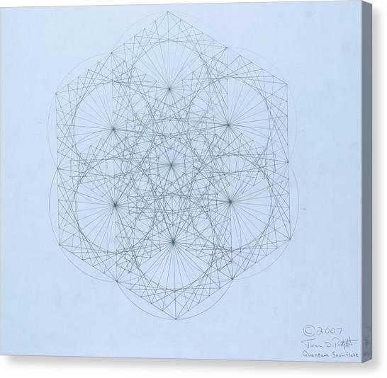 Quantum Snowflake Canvas Print