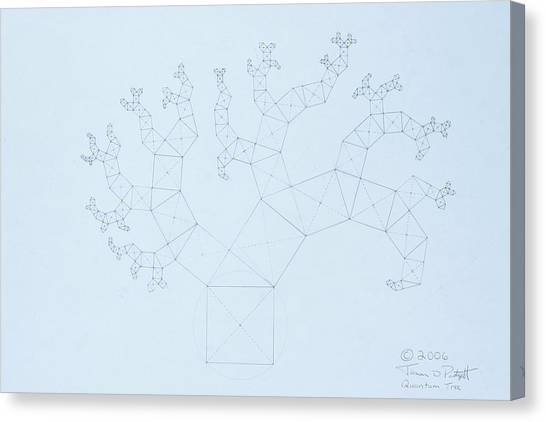 Quantum Tree Canvas Print