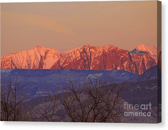 Radiant Ragged Mountain Evening Co II Canvas Print