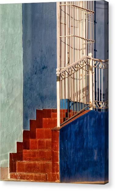 Red Steps Canvas Print