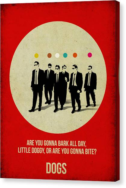 Tv Shows Canvas Print -  Reservoir Dogs Poster by Naxart Studio