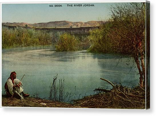 River Jordan Canvas Print -  River Jordan         Date Early 20th by Mary Evans Picture Library