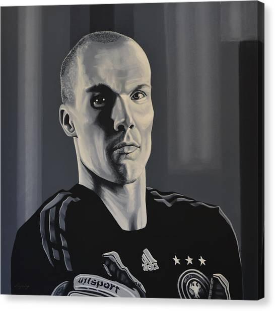 Soccer Players Canvas Print -  Robert Enke by Paul Meijering