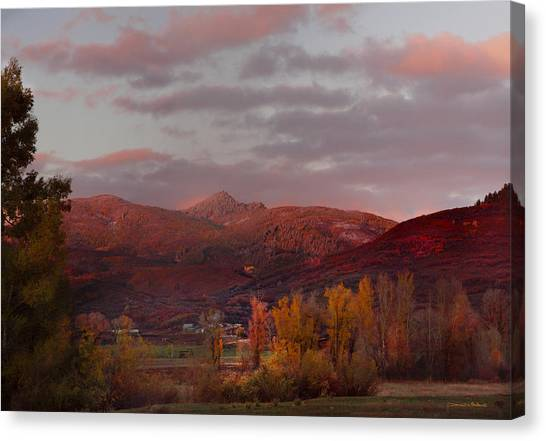 Rocky Peak Autumn Sunset Canvas Print