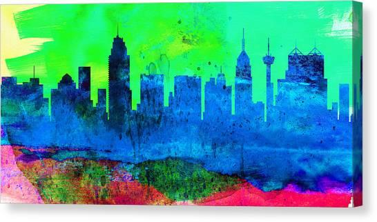 San Antonio Canvas Print -  San Antonio City Skyline by Naxart Studio