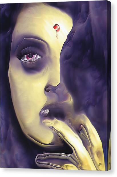 Atheism Canvas Print - Santa Rita  by Joaquin Abella