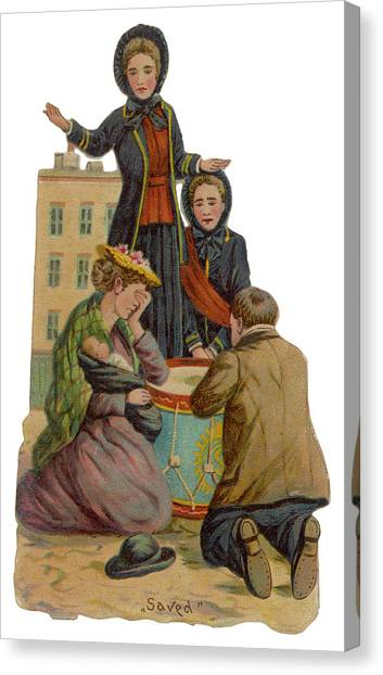 Salvation Army Canvas Print -  'saved !'         Date Late 19th by Mary Evans Picture Library