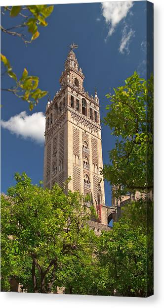 Seville Cathedral Belltower Canvas Print by Viacheslav Savitskiy
