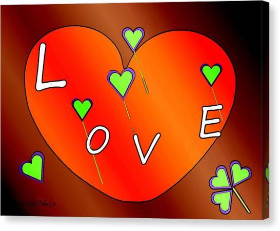 Simple  Love  Heart  - 505  Canvas Print