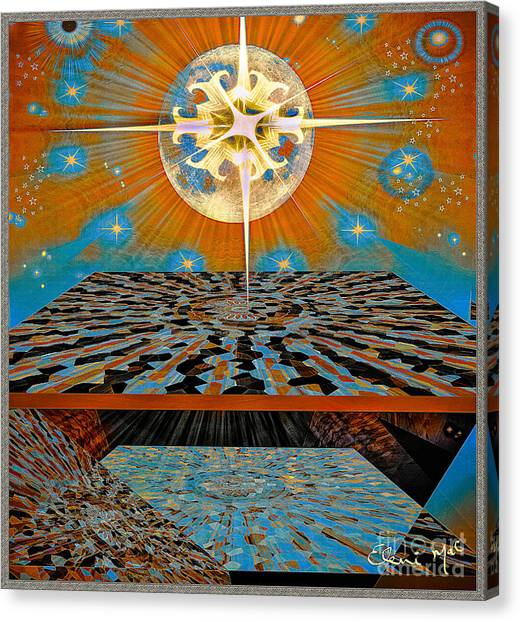 Canvas Print featuring the digital art  Solar Energy by Eleni Mac Synodinos