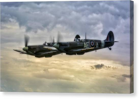 Spitfires Double Trouble Canvas Print