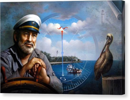 St. Simons Island Sea Captain 5 Canvas Print