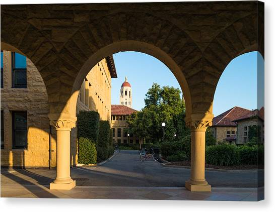 Junior College Canvas Print -  Stanford University Hoover Tower And Bikes by Priya Ghose
