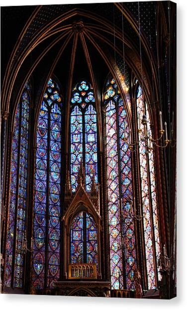 Ste.-chapelle Canvas Print by Jacqueline M Lewis