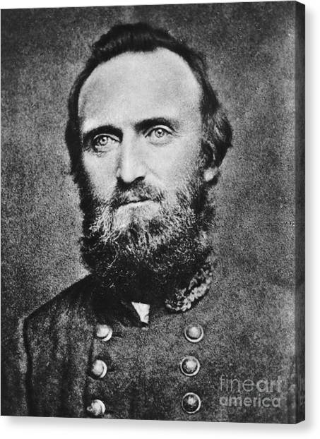 Confederate Army Canvas Print -  Stonewall Jackson by Anonymous