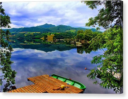 Stunning Mirror Lake By Julia Fine Art Canvas Print