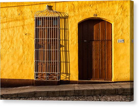 Sunny Yellow Wall Canvas Print