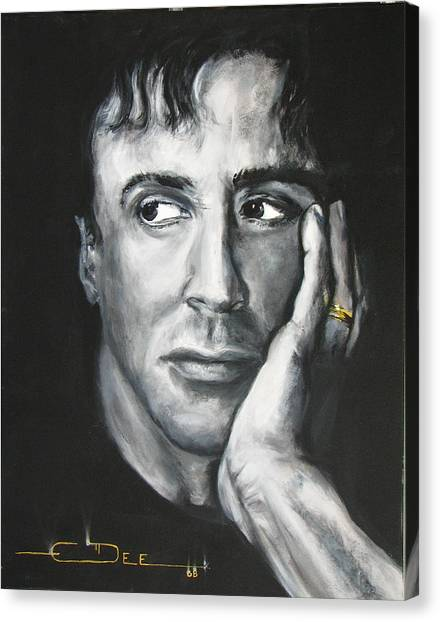 Sylvester Stallone Canvas Print -  Sylvester Stallone by Eric Dee