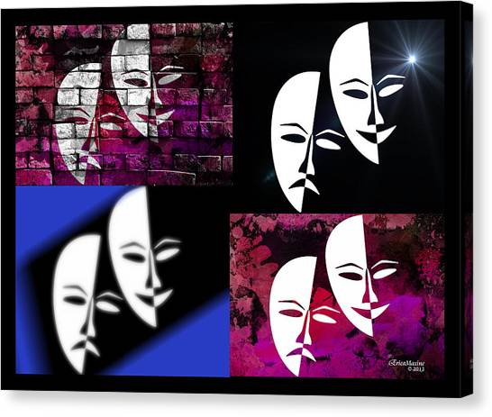 Thalia And Melpomene Canvas Print