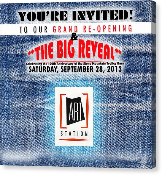 The Big Reveal Canvas Print