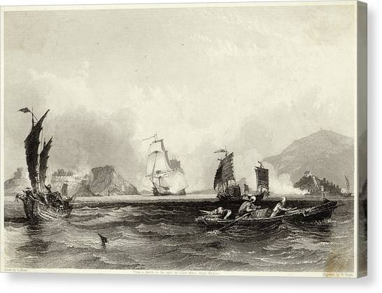 The British Fleet Forces A  Passage Canvas Print by Mary Evans Picture Library