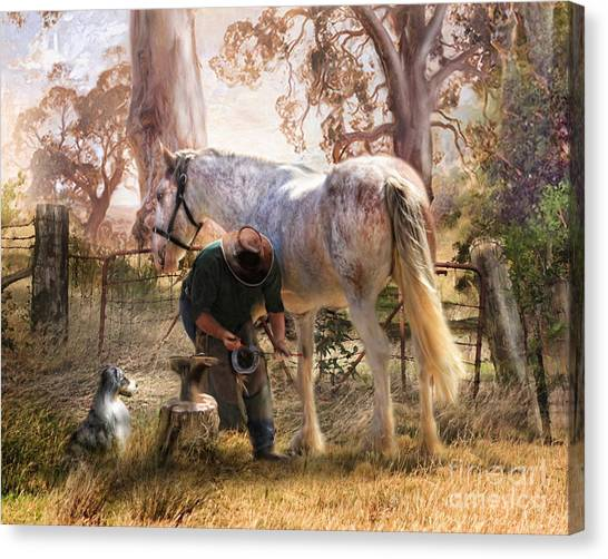 The Bushmans Forge Canvas Print