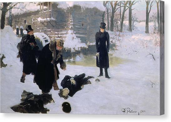 Honor Canvas Print -  The Duel by Ilya Efimovich Repin