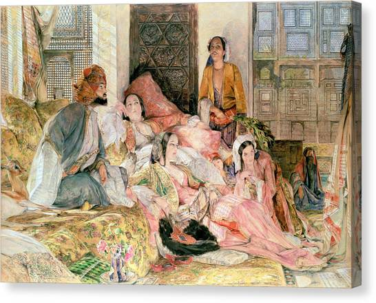 Slavery Canvas Print -  The Harem by John Frederick Lewis