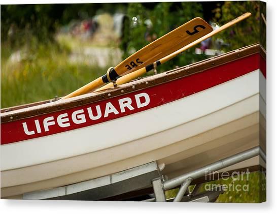 The Lifeguard Boat Canvas Print