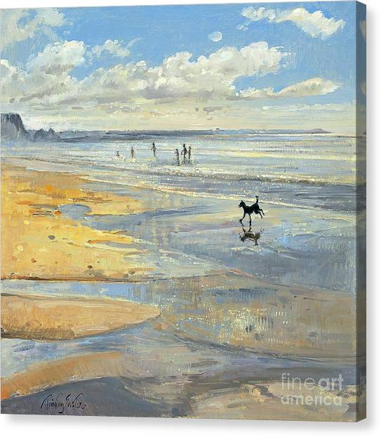 Low Tide Canvas Print -  The Little Acrobat  by Timothy  Easton