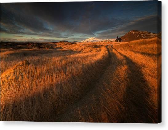 Tracks Canvas Print - ... The Long Winding Road by Raymond Hoffmann