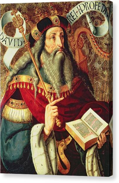 Old Testament Canvas Print -  The Prophet David by Master of Riofrio