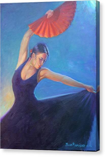 The Red Fan Canvas Print by Gwen Carroll