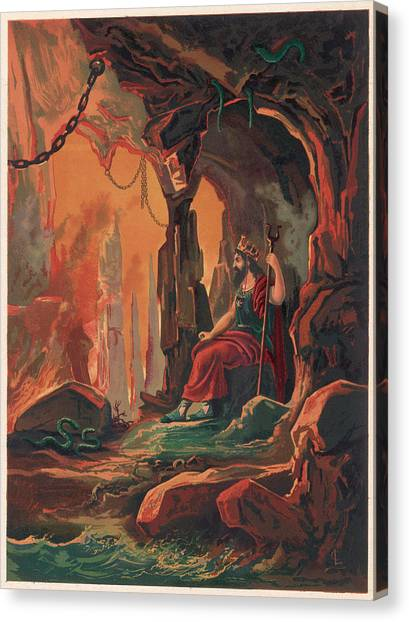 The Ruler Of The Underworld Canvas Print by Mary Evans Picture Library
