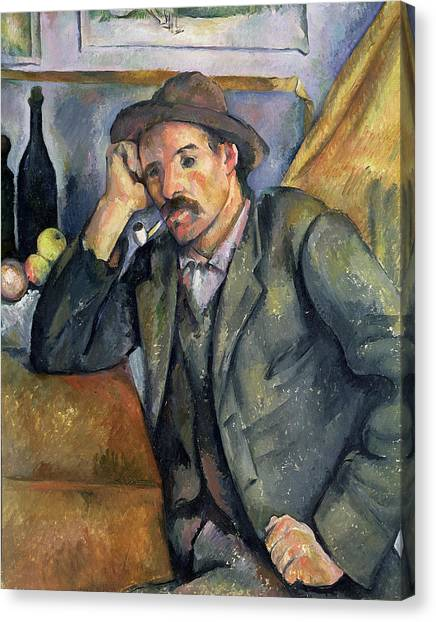 Apples Canvas Print -  The Smoker by Paul Cezanne